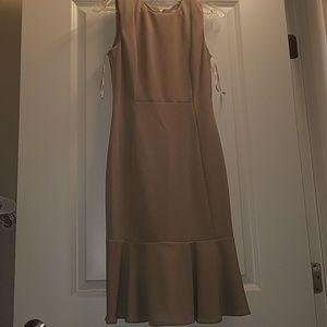 Calvin Klein Work Midi Dress w/Ruffle Skirt 2